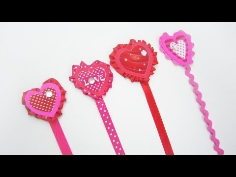 How to make cute ribbon heart bookmarks