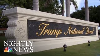 Trump Has Spent A Third Of His Presidency So Far At Trump-Branded Properties | NBC Nightly News