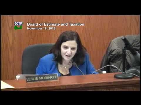 Board of Estimate & Taxation, November 18, 2019 (updated)