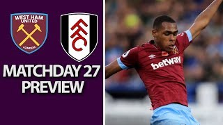 West Ham v. Fulham | PREMIER LEAGUE MATCH PREVIEW | 02/22/2019 | NBC Sports
