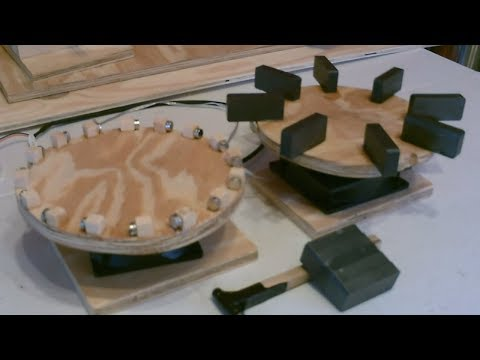 """The deluxe """"Free Energy"""" Magnet Motor Generators! Experiments - w/improved wheels!"""