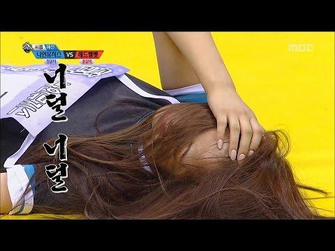 [Idol Star Athletics Championship] 아이돌스타 선수권대회 1부 - 'EXID VS Nine Muses' Korean wrestling 20150928