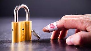 Solving the DANGEROUS Lock Puzzle! - Watch your Fingers!! (LvL10)