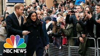 Newly-Engaged Royal Couple Prince Harry And Meghan Markle Make First Public Appearance | NBC News
