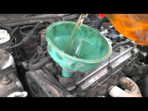 Течь масла из двигателя ваз