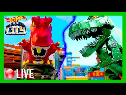 🔴  LIVE: DINOS ALL OVER HOT WHEELS CITY! | @Hot Wheels