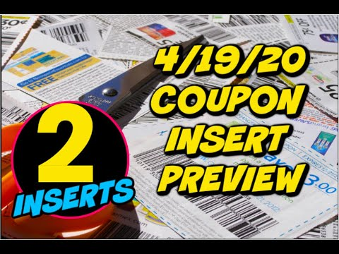 4/19/20 COUPON INSERT PREVIEW   2 INSERTS