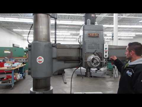 "Ikeda Model RM1300 52"" x 13"" Column Radial Arm Drill Press"