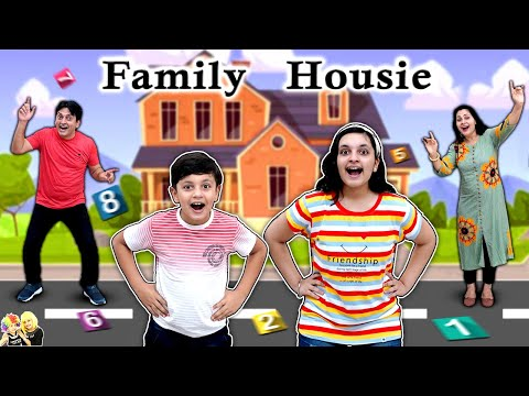 FAMILY HOUSIE | Family Comedy Challenge | Giant Tambola | Aayu and Pihu Show