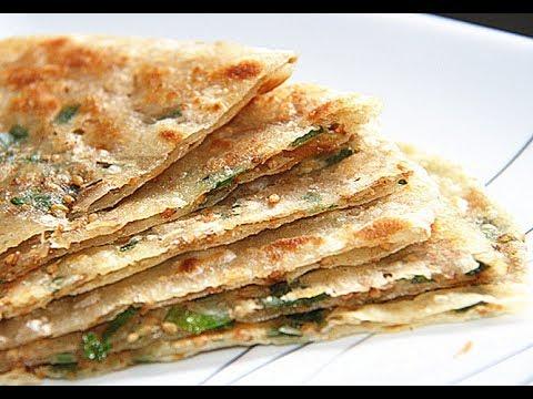 【田园时光美食】芝麻葱油饼(私房葱油饼做法 薄脆 好吃超出你想像)crispy sesame scallion crepe