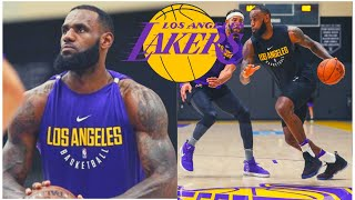 Laker Practice: AD & Lebron Three Point CONTEST