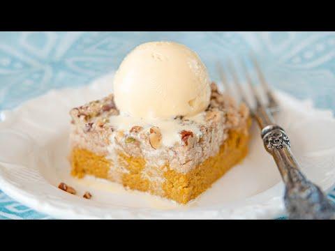Всё смешиваем и пирог готов! Быстрый насыпной ТЫКВЕННЫЙ ПИРОГ | Pumpkin Dump Cake