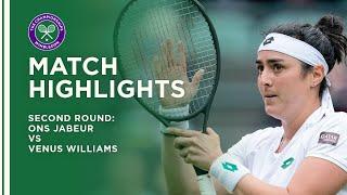 Ons Jabeur vs Venus Williams | Second Round Highlights | Wimbledon 2021