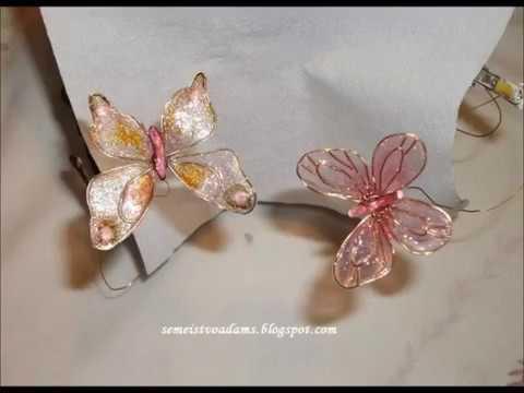 Tutorial: Maceta con flores hechas con alambre y esmalte / Tutorial ...