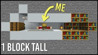 Hidden Minecraft Base that's only ONE BLOCK TALL