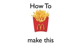 How to Make A McDonalds French Fry Cup | Origami | Easy