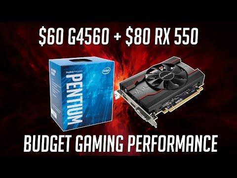 $80 AMD RX 550 + Pentium G4560 | Budget PC Performance
