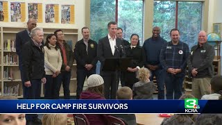 Gov. Newsom Visits Paradise After Signing Emergency Funding Bills