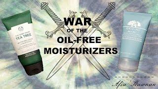 WAR OF THE OIL-FREE MOISTURIZERS | ORIGINS ZERO OIL VS BODY SHOP TEA TREE Review