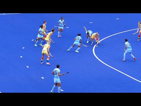 India v Australia final womens hockey 2nd quarter