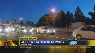 Cold weather incoming for Portland, drivers urged to prepare