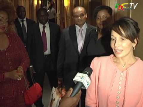 Audience Mme Chantal Biya à Nice Sommet France Afrique