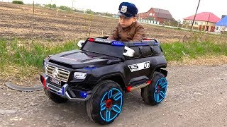 POLICE BABY Pretend Play with Police Cars Unboxing and Playing with TOYS - YouTube