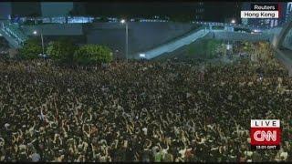 Protests paralyze Hong Kong