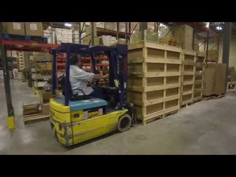 Uncrating an AIRE GUARDIAN® AG8000 Mobile Dust Containment Cart from Abatement Technologies®