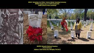 Sis. Callie Herd Talks 'REMEMBER FORT PILLOW' Historic Marker Unveling (JUNETEENTH 2018)
