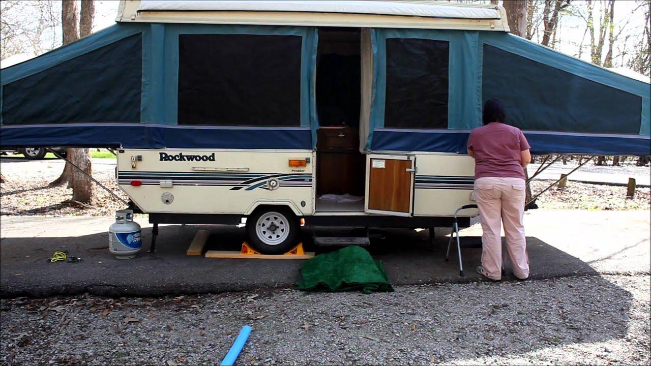 Popup Camper Setup Rockwood At Lake Fausse Point State