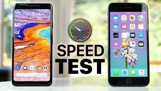 Google Pixel 2 XL vs iPhone 8 Plus SPEED Test!