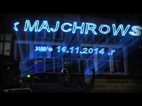 Grafika laserowa animacja laserowa Wybory samorządowe Kraków 2014  LASERY INFO