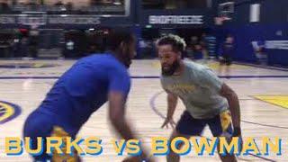 [HD] Alec Burks vs Ky Bowman + Luke Loucks 🔥 + Steve's son Nick Kerr 2-on-2 at Warriors practice