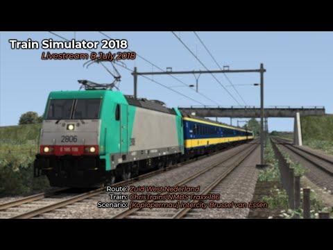 Koplopermau Intercity Brussel van Essen naar Dordrecht Livestream 08072018
