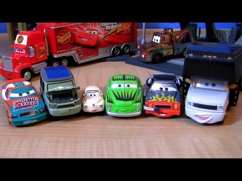 Cars 2 Miles Axlerod With Open Hood CHASE Darrell Cartrip Headset Disney Pixar 2013 Toys Collection - Smashpipe Entertainment