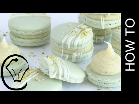 Pistachio French Macarons with Ganache by Cupcake Savvy's Kitchen