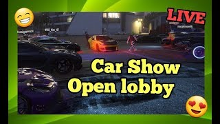 (🔴Live)👉GTA5 Crew Car show/Car meet up come join and show off your car/PS4 👈
