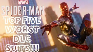 Top 5 WORST DLC Suits in Spider-Man PS4!!!