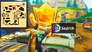 """""""Follow the Treasure Map Found in Haunted Hills"""" Location Fortnite Week 9 Challenges (TREASURE MAP)"""