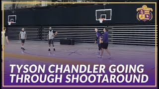 Lakers Practice: Luke Walton Runs Tyson Chandler Through Offensive Sets Before First Game As a Laker