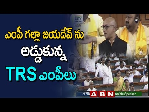 TRS MPs Interrupts MP Galla Jayadev In middle Of Speech In LS
