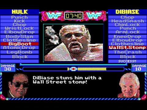 MicroLeague Wrestling (MicroLeague Sports Association, Subway, Up Front) (MS-DOS) [1989]