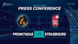 Promitheas Patras v SIG Strasbourg - Press Conference - Basketball Champions League 2018-19