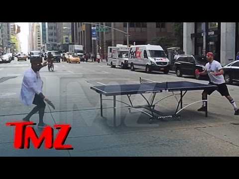 Usher -- Ping-Pong Master on 6th Ave