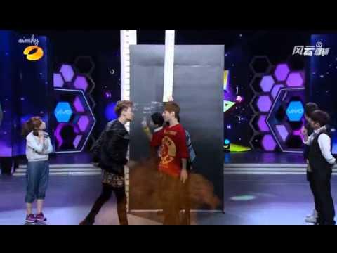 130406 Super Junior M High Jump Game快乐大本营 Happy Camp Kyuhyun Eunhyuk Henry Zhou Mi