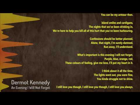 An Evening I Will Not Forget - Dermot Kennedy