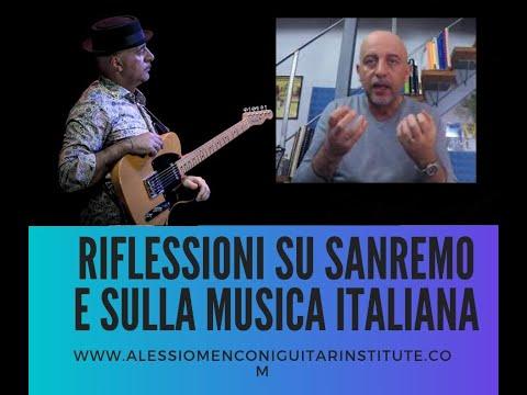 Alessio Menconi - Riflessioni su Sanremo e sulla musica italiana