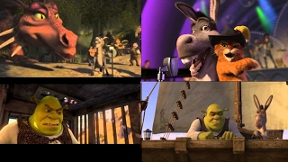 ALL SHREK MOVIES BUT ONLY WHEN DONKEY SINGS