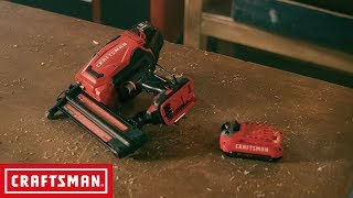 CRAFTSMAN V20* Cordless 18GA Finish Nailer Kit | Tool Overview